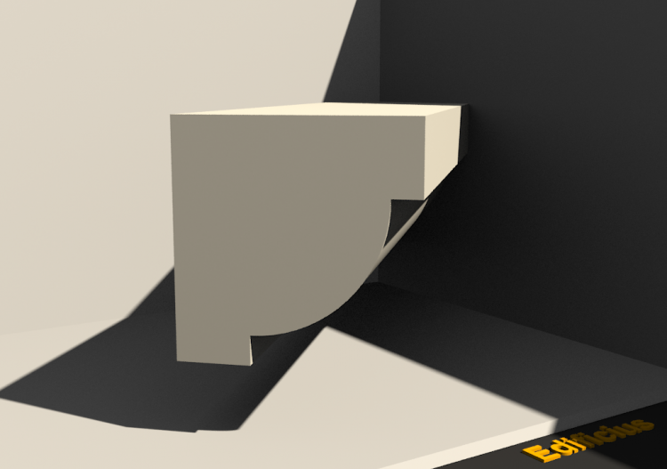 3D Sill - Base [P01] 80x80mm - ACCA software
