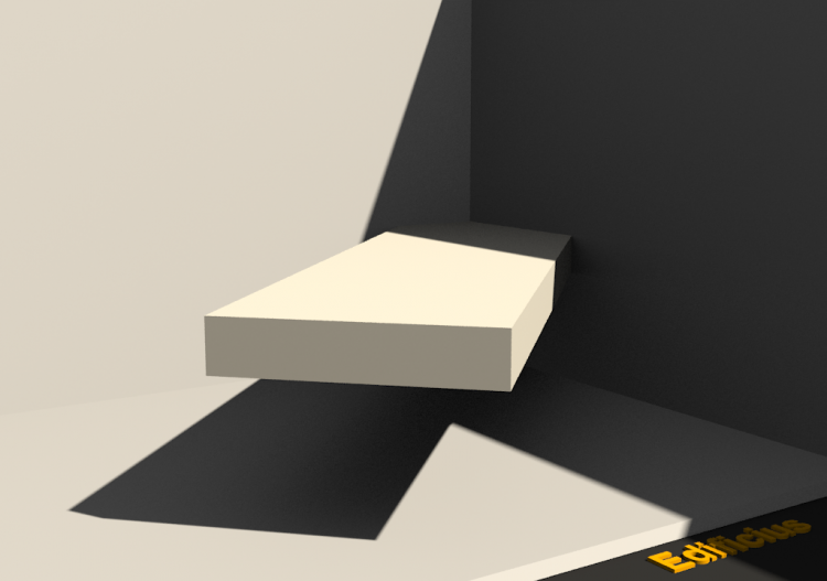 3D Sill - Base [R] 200x40mm - ACCA software