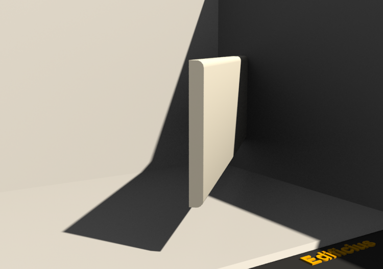 3D Skirting Board - Plinthe [P02] 100x10mm - ACCA software