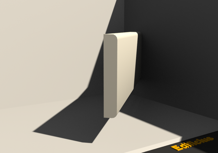 3D Skirting Board - Plinthe [P02] 80x13mm - ACCA software
