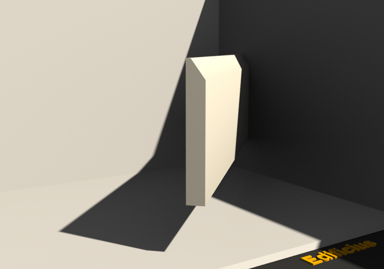 3D Skirting Board - Plinthe [P03] 75x10mm - ACCA software