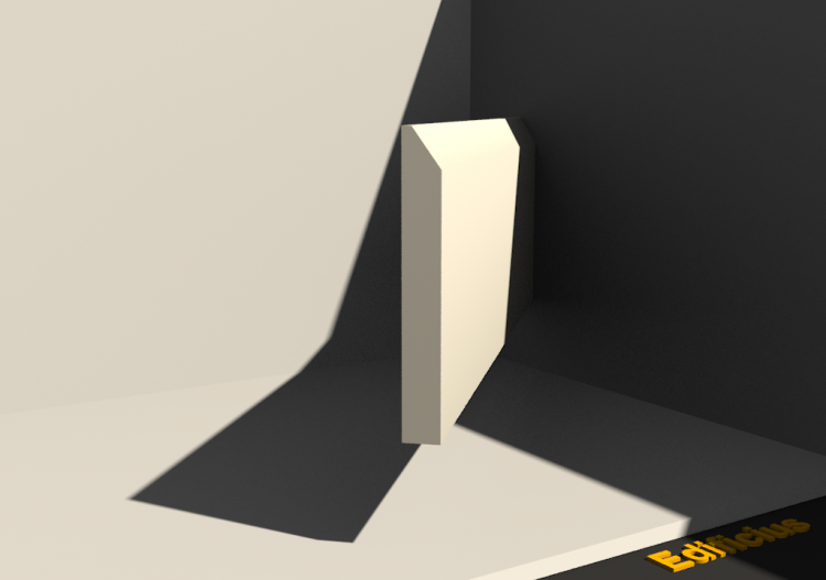 3D Skirting Board - Plinthe [P03] 80x10mm - ACCA software