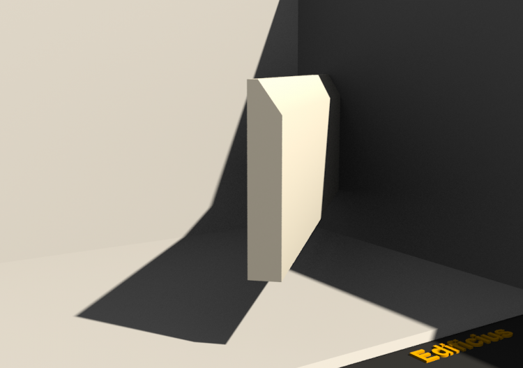 3D Skirting Board - Skirter [P03] 75x13mm - ACCA software