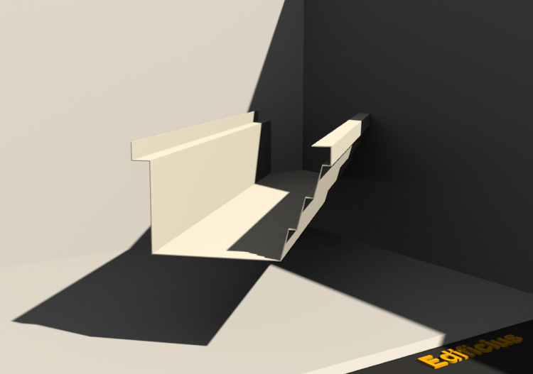 3D Gutter - Gutter [P01] 100x140mm - ACCA software