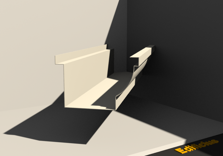 3D Gutter - Gutter [P02] 100x120mm - ACCA software
