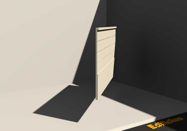 3D Wainscoting - Wainscot [P03] 1000mm - ACCA software