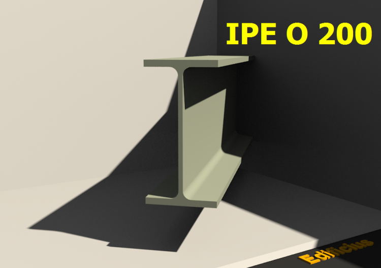 3D Profile - IPE O 200 - ACCA software