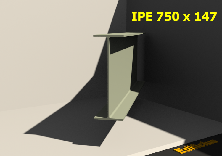 3D Profiles - IPE 750 x 147 - ACCA software