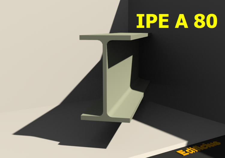 3D Profiles - IPE A 80 - ACCA software
