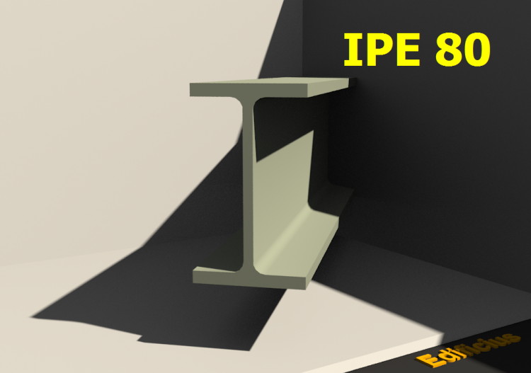 3D Profile - IPE 80 - ACCA software