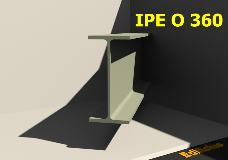 3D Profile - IPE O 360 - ACCA software