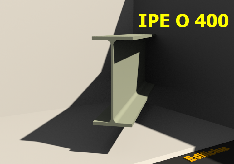 3D Profile - IPE O 400 - ACCA software