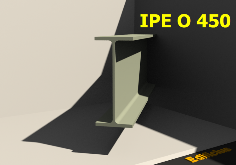 3D Profile - IPE O 450 - ACCA software