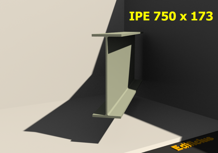 3D Profile - IPE 750 x 173 - ACCA software