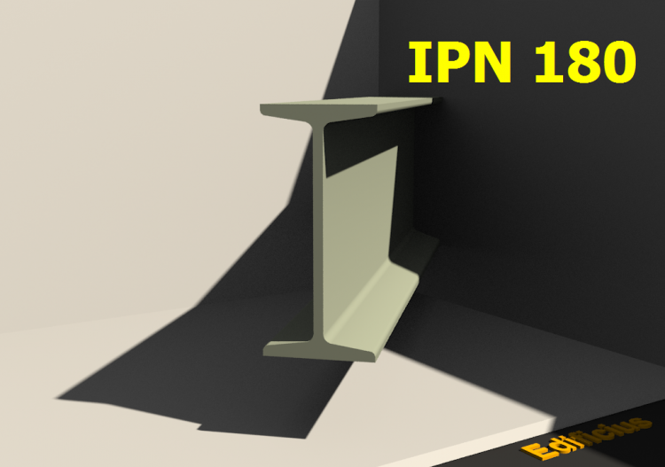 3D Profiles - IPN 180 - ACCA software