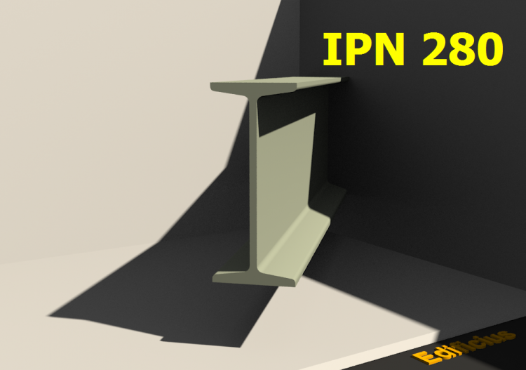 3D Profiles - IPN 280 - ACCA software