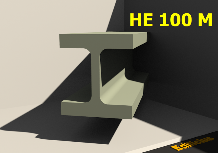 3D Profile - HE 100 M - ACCA software