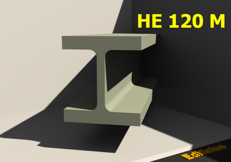 3D Profiles - HE 120 M - ACCA software