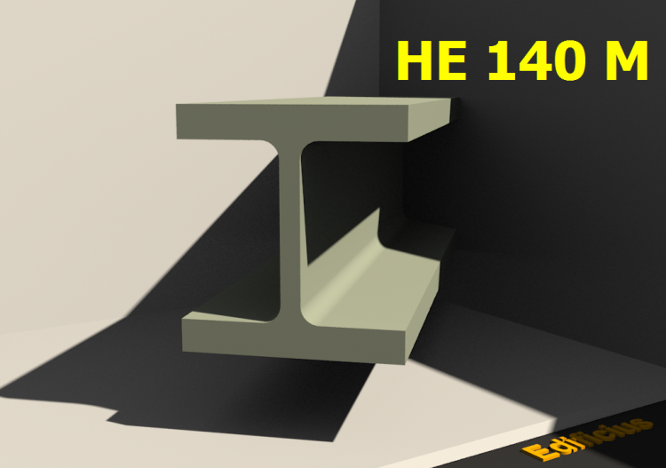 3D Profile - HE 140 M - ACCA software