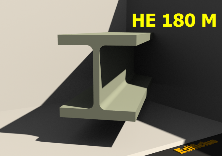 3D Profiles - HE 180 M - ACCA software
