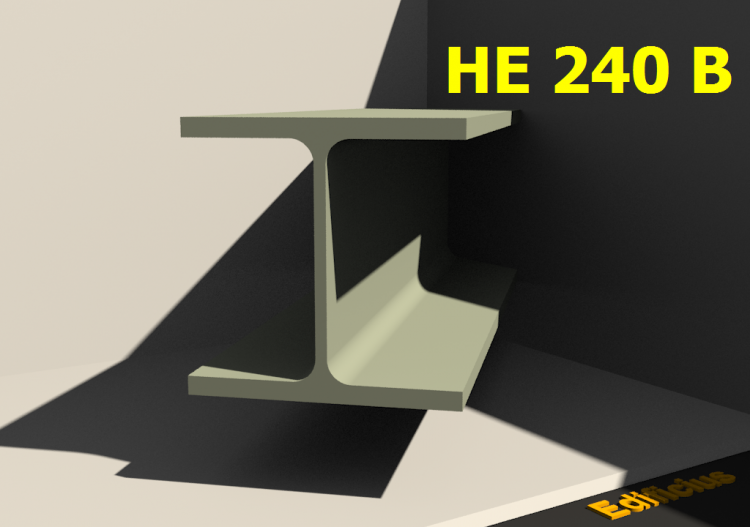 3D Profile - HE 240 B - ACCA software