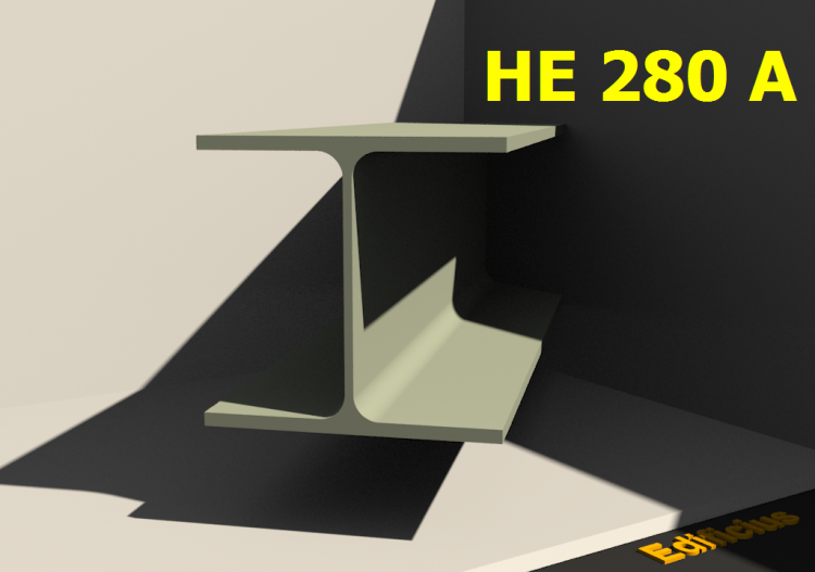 3D Profiles - HE 280 A - ACCA software