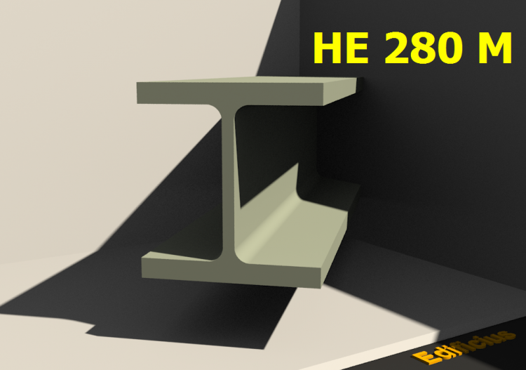 3D Profiles - HE 280 M - ACCA software
