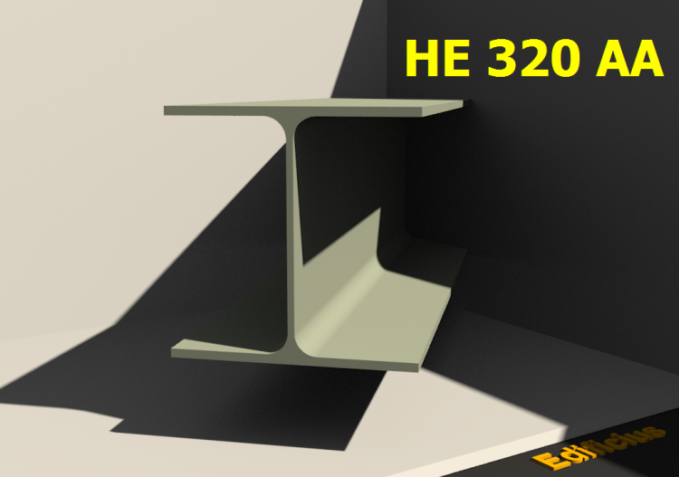3D Profiles - HE 320 AA - ACCA software