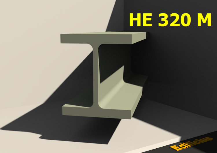 3D Profile - HE 320 M - ACCA software