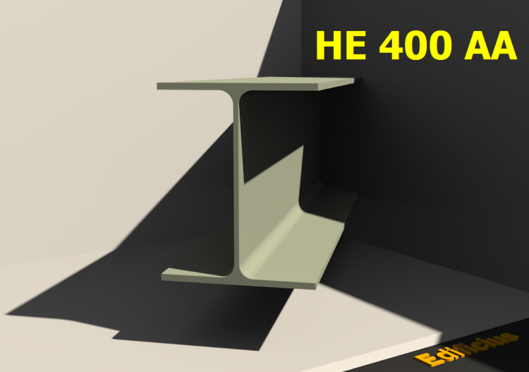 3D Profile - HE 400 AA - ACCA software