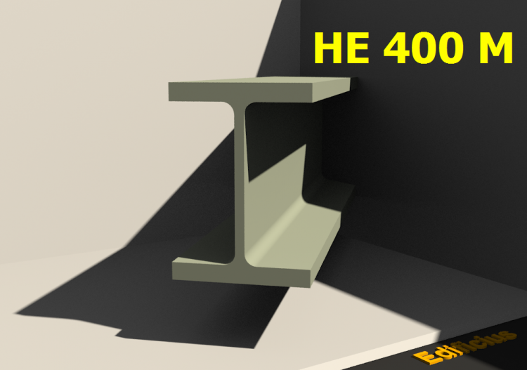 3D Profile - HE 400 M - ACCA software