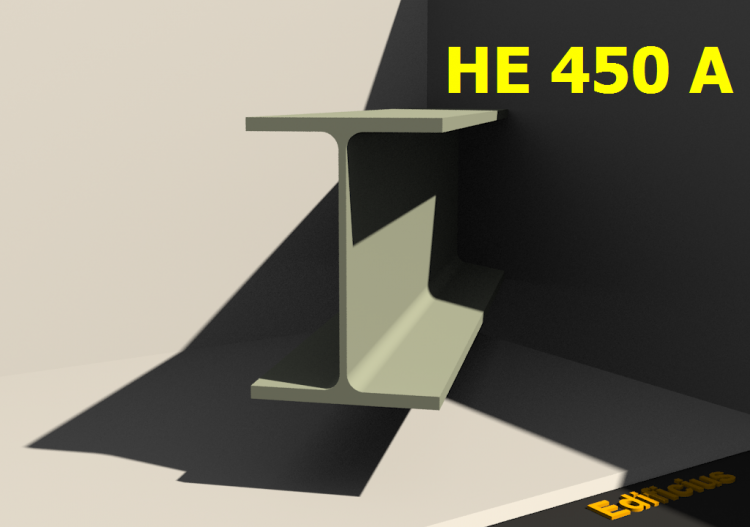 3D Profile - HE 450 A - ACCA software