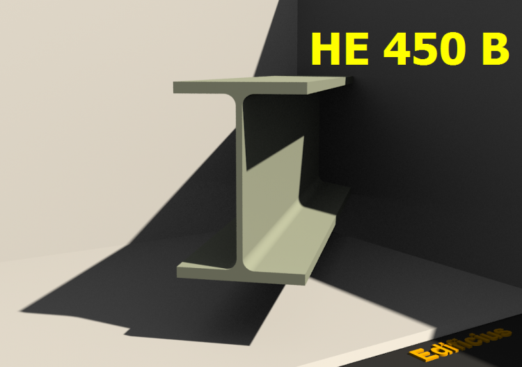 3D Profiles - HE 450 B - ACCA software