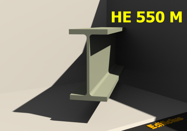 3D Profiles - HE 550 M - ACCA software