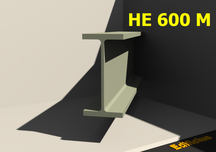 3D Profiles - HE 600 M - ACCA software