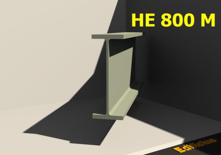 3D Profile - HE 800 M - ACCA software