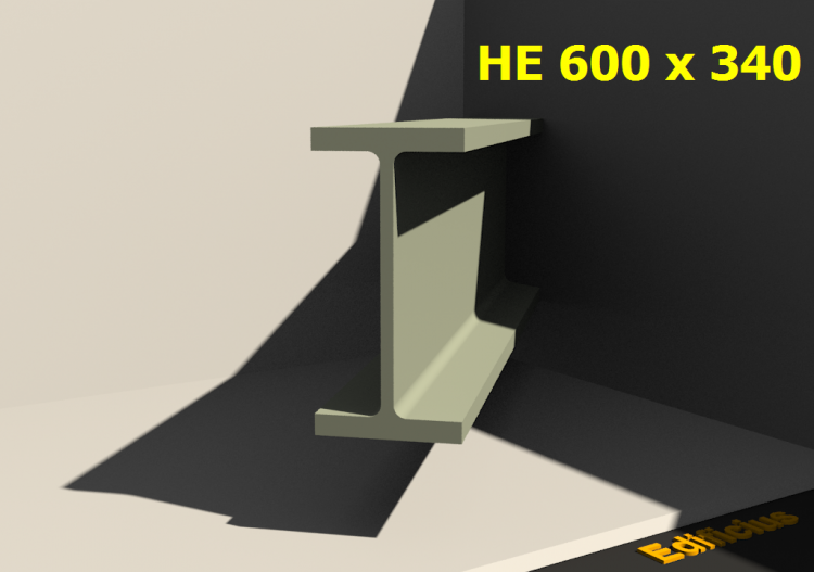 3D Profiles - HE 600 x 340 - ACCA software