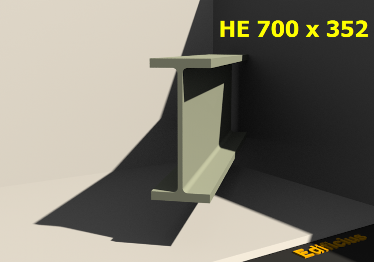 3D Profiles - HE 700 x 352 - ACCA software