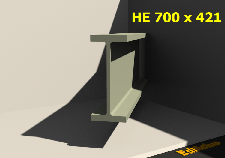 3D Profiles - HE 700 x 421 - ACCA software