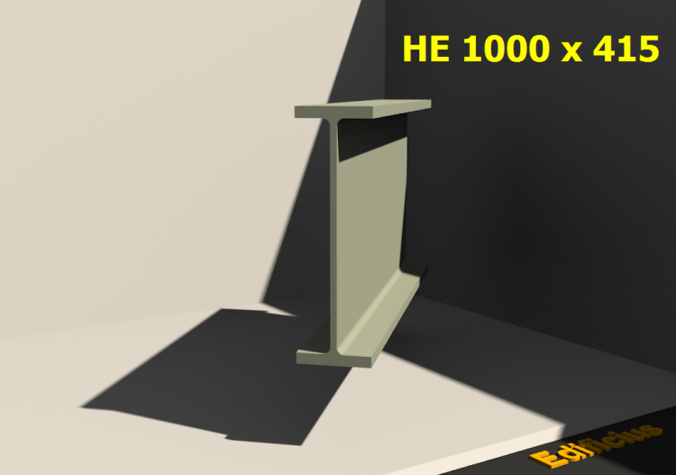 3D Profile - HE 1000 x 415 - ACCA software