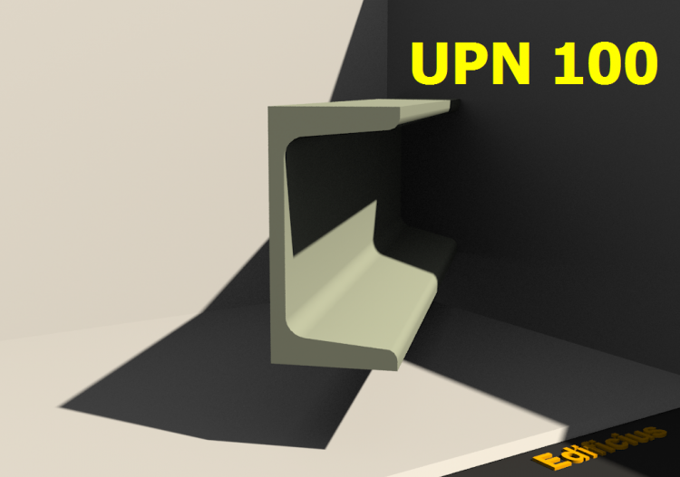 3D Profile - UPN 100 - ACCA software