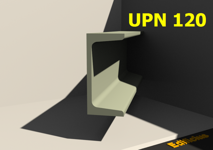 3D Profile - UPN 120 - ACCA software