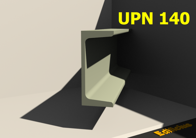 3D Profile - UPN 140 - ACCA software