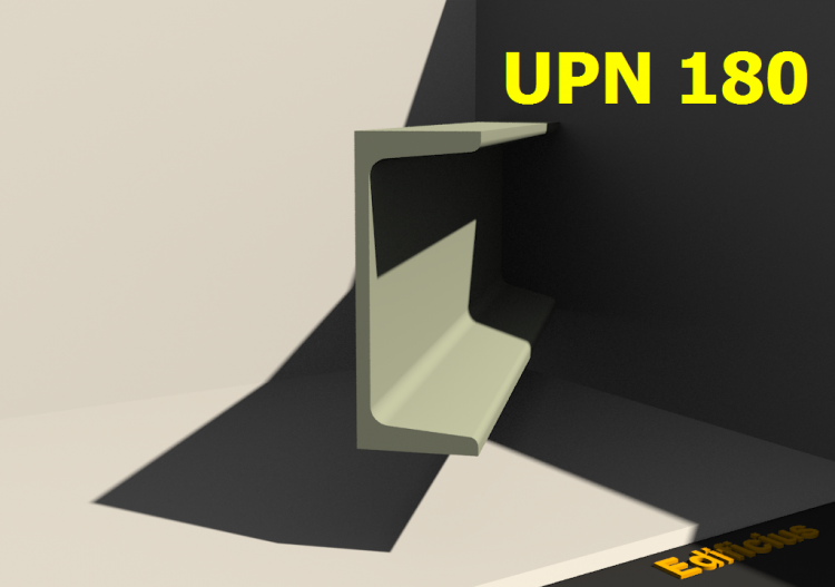 3D Profiles - UPN 180 - ACCA software