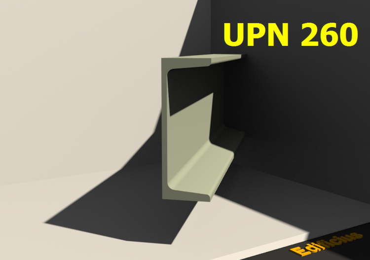3D Profiles - UPN 260 - ACCA software