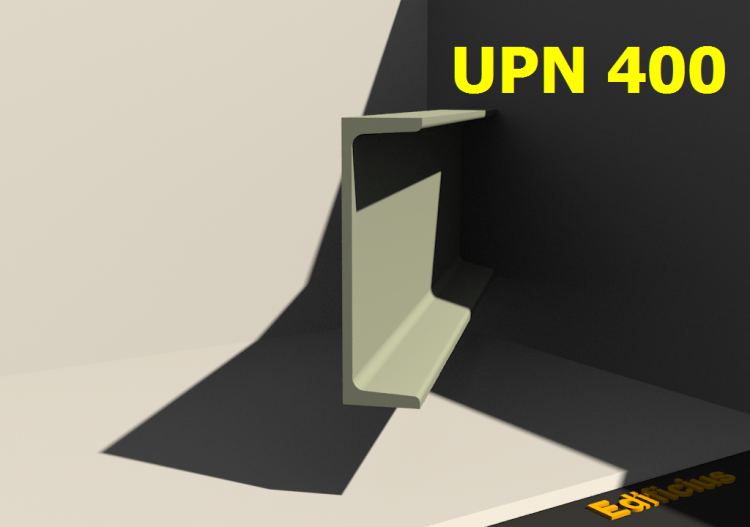 3D Profile - UPN 400 - ACCA software
