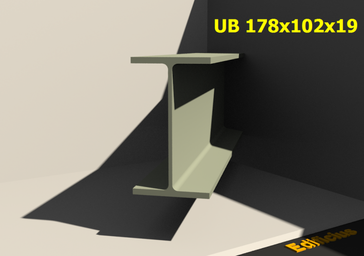 3D Profile - UB 178x102x19 - ACCA software