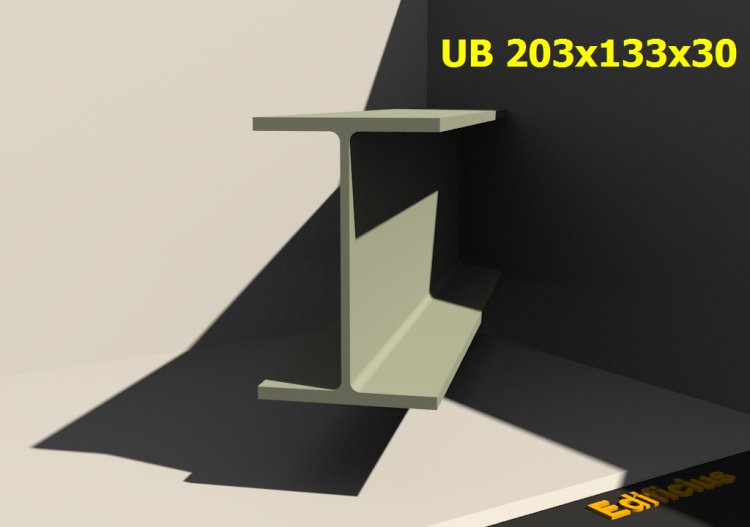 3D Profile - UB 203x133x30 - ACCA software