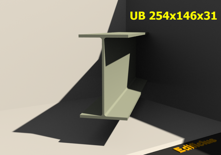 3D Profile - UB 254x146x31 - ACCA software