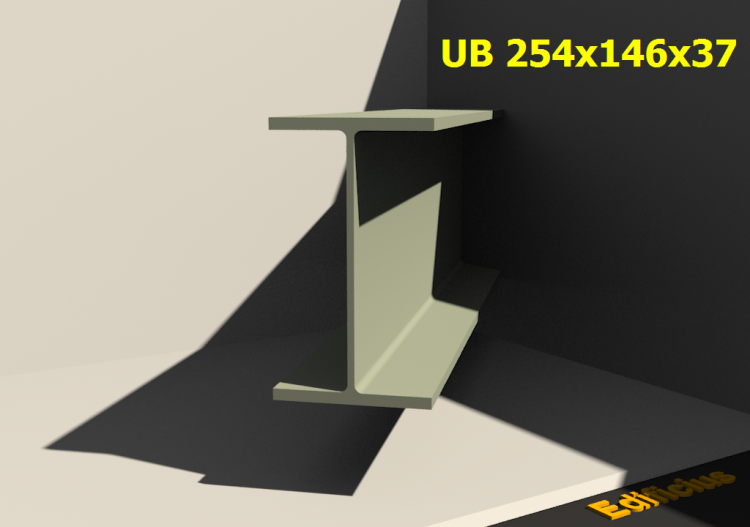 3D Profiles - UB 254x146x37 - ACCA software
